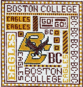 click here to view larger image of Boston College (hand painted canvases)