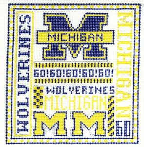 Michigan Wolverines hand painted canvases