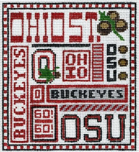 Ohio State hand painted canvases