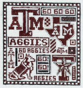 click here to view larger image of Texas A & M (hand painted canvases)
