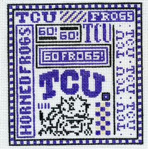 click here to view larger image of Texas Christian University (hand painted canvases)