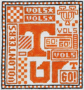 click here to view larger image of Tennessee Vols (hand painted canvases)