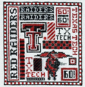 click here to view larger image of Texas Tech (hand painted canvases)