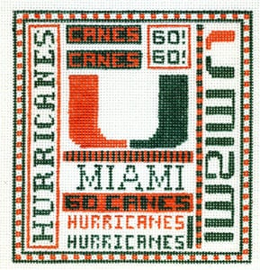 click here to view larger image of University of Miami Florida (hand painted canvases)