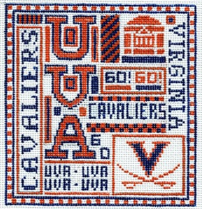 click here to view larger image of University of Virginia (hand painted canvases)