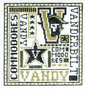 click here to view larger image of Vanderbilt (hand painted canvases)