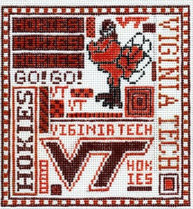 click here to view larger image of Virginia Tech (hand painted canvases)