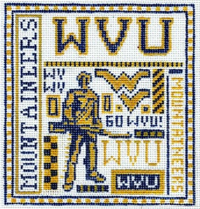click here to view larger image of West Virginia University (hand painted canvases)