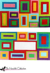 click here to view larger image of Scattered Squares (hand painted canvases)