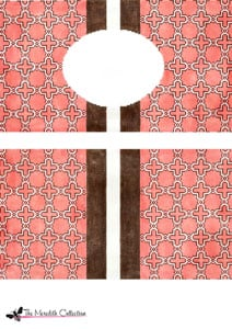 click here to view larger image of Moroccan Tile - Peach (hand painted canvases)