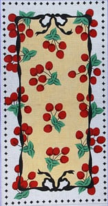 click here to view larger image of Cherries Jubilee (hand painted canvases)