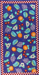 click here to view larger image of Fruit Medley w/ Check border (hand painted canvases)