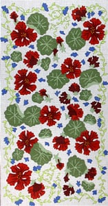 click here to view larger image of Red Geraniums (hand painted canvases)