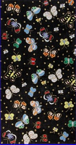 click here to view larger image of Iridescent Butterflies on Black (hand painted canvases)