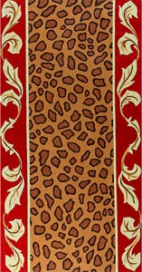 click here to view larger image of Leopard Skin w/ Red and Gold Leaf Border (hand painted canvases)