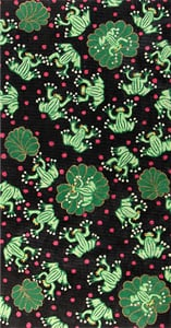 click here to view larger image of Frogs on Polka Dots w/ Black Background (hand painted canvases)