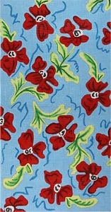 click here to view larger image of Pinwheel Red Poppies (hand painted canvases)