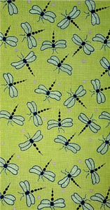 click here to view larger image of Dragonflies - Lime Background w/ Purple Dots (hand painted canvases)