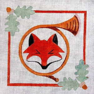 click here to view larger image of Fox and Horn (hand painted canvases)