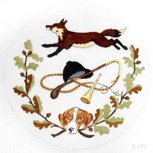 click here to view larger image of Fox Hunt Plate (hand painted canvases)