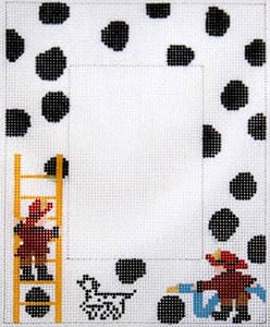 click here to view larger image of Fireman with Polka Dots (hand painted canvases)