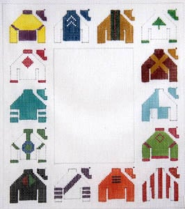 click here to view larger image of Jockey Silks-Vertical (hand painted canvases)