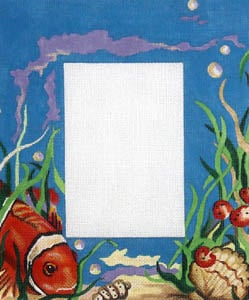 click here to view larger image of Underwater Fish Scene Blue Background (hand painted canvases)