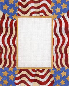 click here to view larger image of Waving American Flag (hand painted canvases)