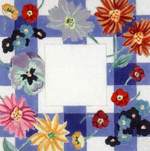 click here to view larger image of Gingham Floral (hand painted canvases)