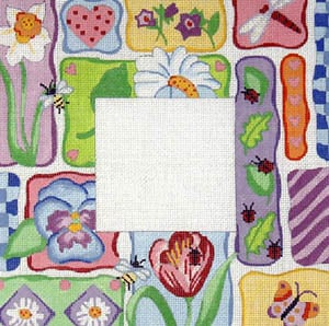 click here to view larger image of Floral Patchwork (hand painted canvases)