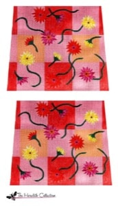 click here to view larger image of Gerber Daisies On Gingham Checks (hand painted canvases)