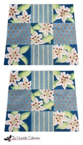 click here to view larger image of Patchwork Lilies (hand painted canvases)