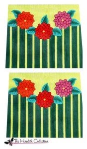 click here to view larger image of Zinnia Stripe (hand painted canvases)