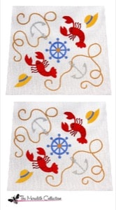 click here to view larger image of Lobster Fest (hand painted canvases)