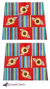 click here to view larger image of Sunflower Stripe (hand painted canvases)