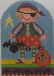 click here to view larger image of Chuck the Pirate Kid (hand painted canvases)