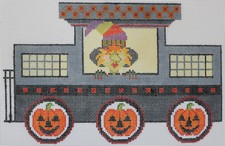 click here to view larger image of Halloween Train - Caboose (hand painted canvases)