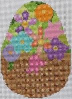 click here to view larger image of Floral Egg A (hand painted canvases)