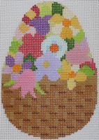 click here to view larger image of Floral Egg B (hand painted canvases)