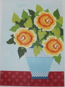 click here to view larger image of Sunny Day Flowers - 18 Count (hand painted canvases)