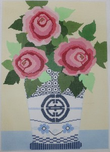 click here to view larger image of Rosie Flowers - 18 Count (hand painted canvases)