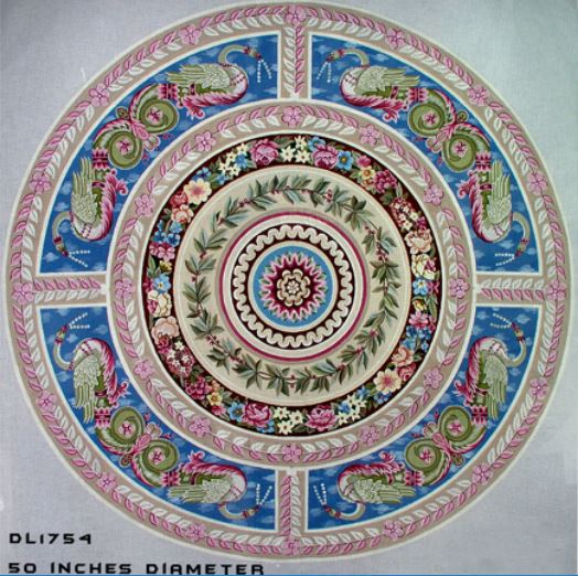 click here to view larger image of Round Aubusson Rug (hand painted canvases)