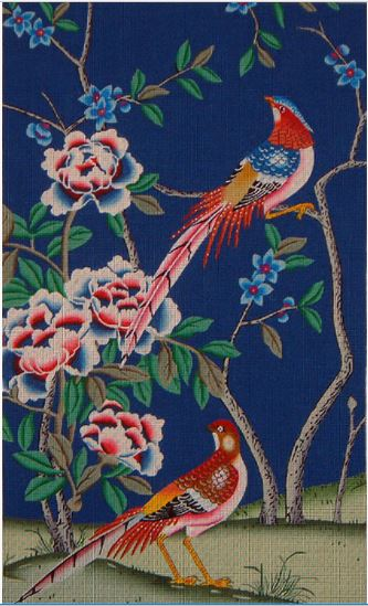 click here to view larger image of Phoenix with Blue Background (hand painted canvases)