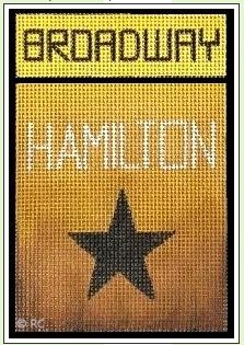 click here to view larger image of Broadway - Hamilton (hand painted canvases)