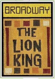 click here to view larger image of Broadway - Lion King (hand painted canvases)