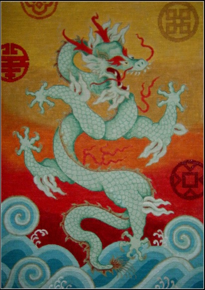 click here to view larger image of Emperor's Dragon (hand painted canvases)