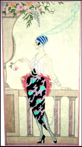 click here to view larger image of Flapper and Feathers (hand painted canvases)