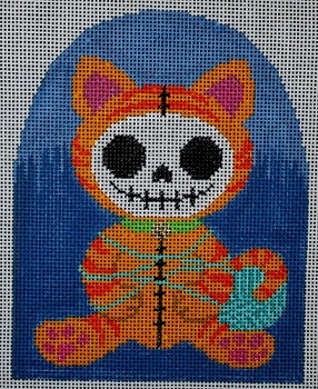 click here to view larger image of Knitty Kitty (hand painted canvases)