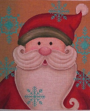 click here to view larger image of Vintage Santa (hand painted canvases)
