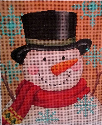 click here to view larger image of Vintage Snowman (hand painted canvases)